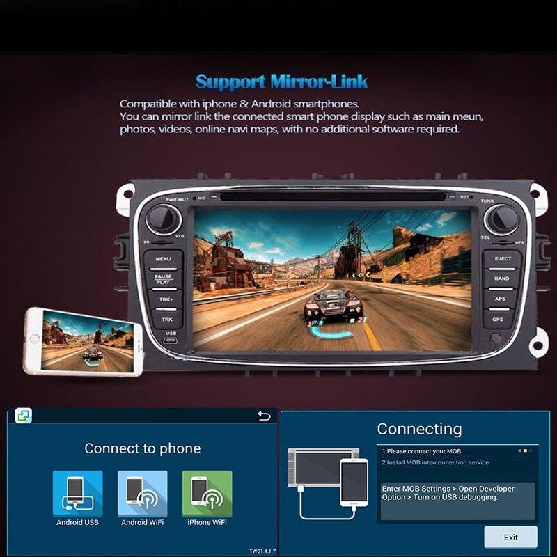 Android 9,0 reproductor de DVD del coche 2 Din radio GPS Navi para Ford Focus Mondeo Kuga C-MAX S-MAX Galaxy estéreo de Audio la cabeza Multimedia