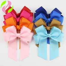 20 colores bonitos niños bebé recién nacido niñas arco pinzas para el pelo, tocado cinta Clip Bowknot accesorios para el cabello accesorios de fotografía rosa