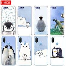 Силиконовый чехол для Xiaomi Mi 8 8SE A1 A2 5 5S 5X 6 Mi5 MI6 NOTE 3 MAX Mix 2 2S милый пингвин полярный медведь