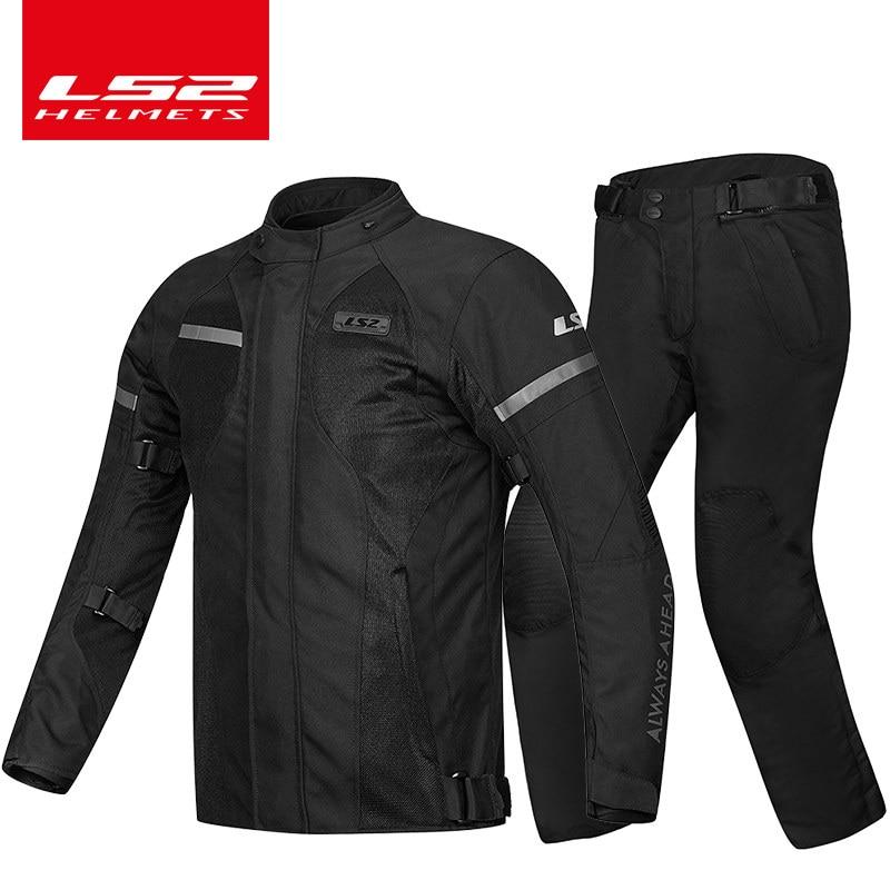 LS2-بدلة جيرسي للدراجات النارية للرجال ، ملابس شتوية دافئة عالمية مقاومة للكسر ، لفصل الشتاء البارد