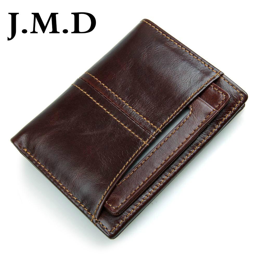 J.M.D RFID Cartera de cuero de bloqueo para hombres, excelente Bifold de viaje, Protector de tarjeta de crédito con ventana de Doble Tarjeta de Identificación 8107