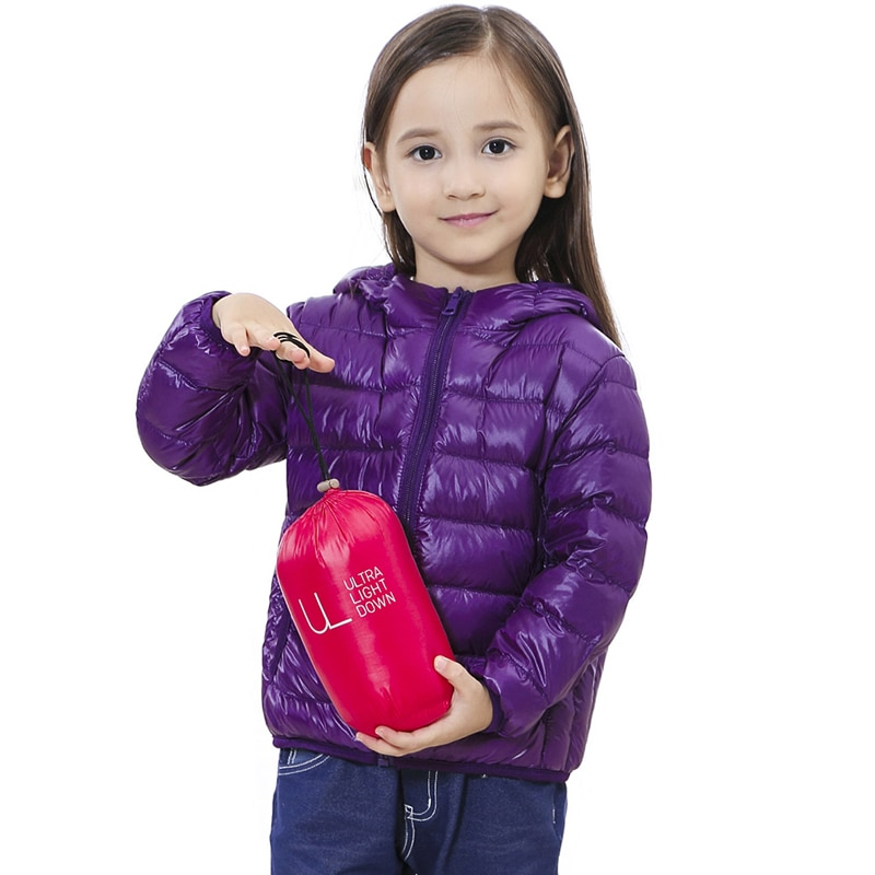 Children Down Jackets 2020 New 90% White Duck Down Hooded Kids Winter Jackets for Boys Girls Ultra Light Portable Winter Coat