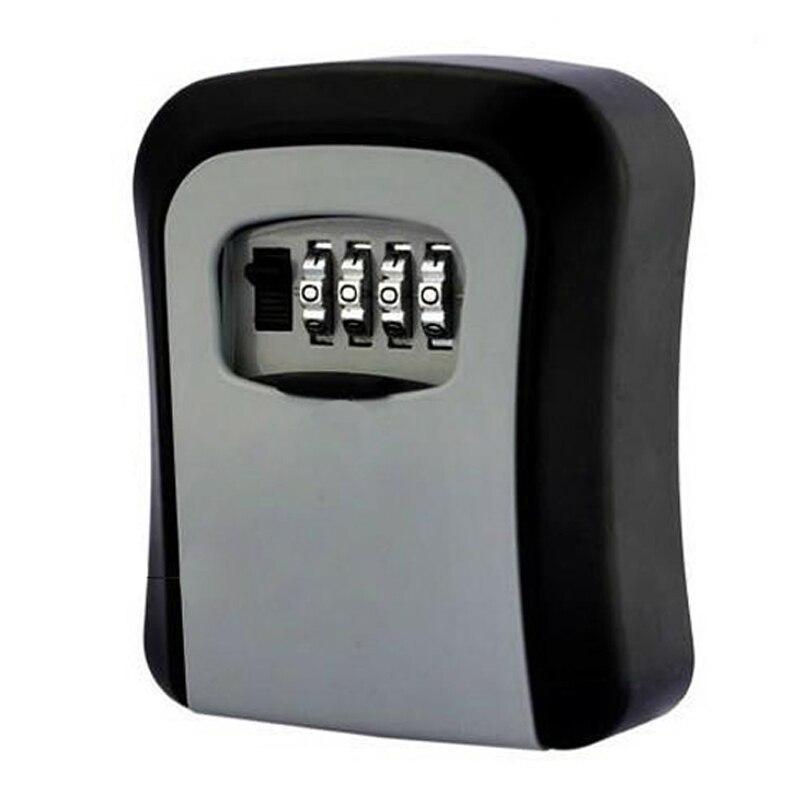 Caja de administración de almacenamiento de seguridad con clave de contraseña, caja de administrador secreto de Metal de 4 dígitos, llave de seguridad oculta para oficina en casa DHZ016