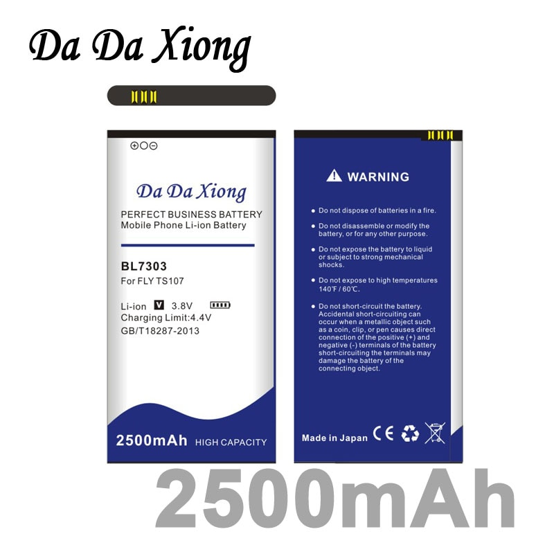 Da Xiong 2500mAh BL7303 Battery for FLY TS107 battery
