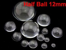 100 transparente Flatback vidrio medio esfera bola cabujón 12mm