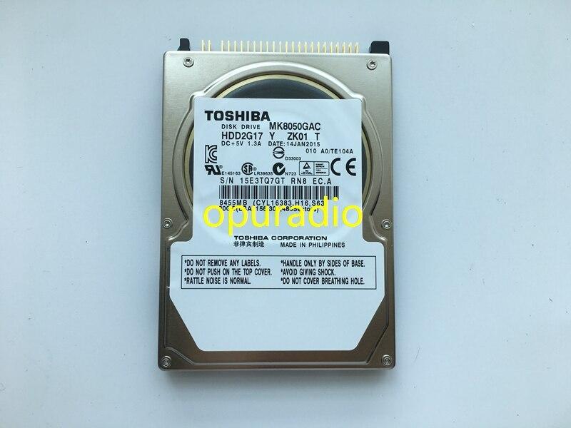 Freies post originalnew Disk drive MK8050GAC MK8050GACE ZK01 DC + 5 v 1.3A 80 gb Für BMWW CIC RADIO Auto HDD navigation systeme