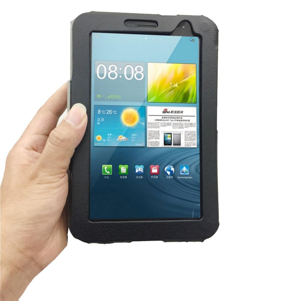 Tab 2 7,0, Funda tipo libro PU con tapa de cuero, soporte de funda para Samsung Galaxy GTP3100 P3110 P3108, funda inteligente con cierre magnético