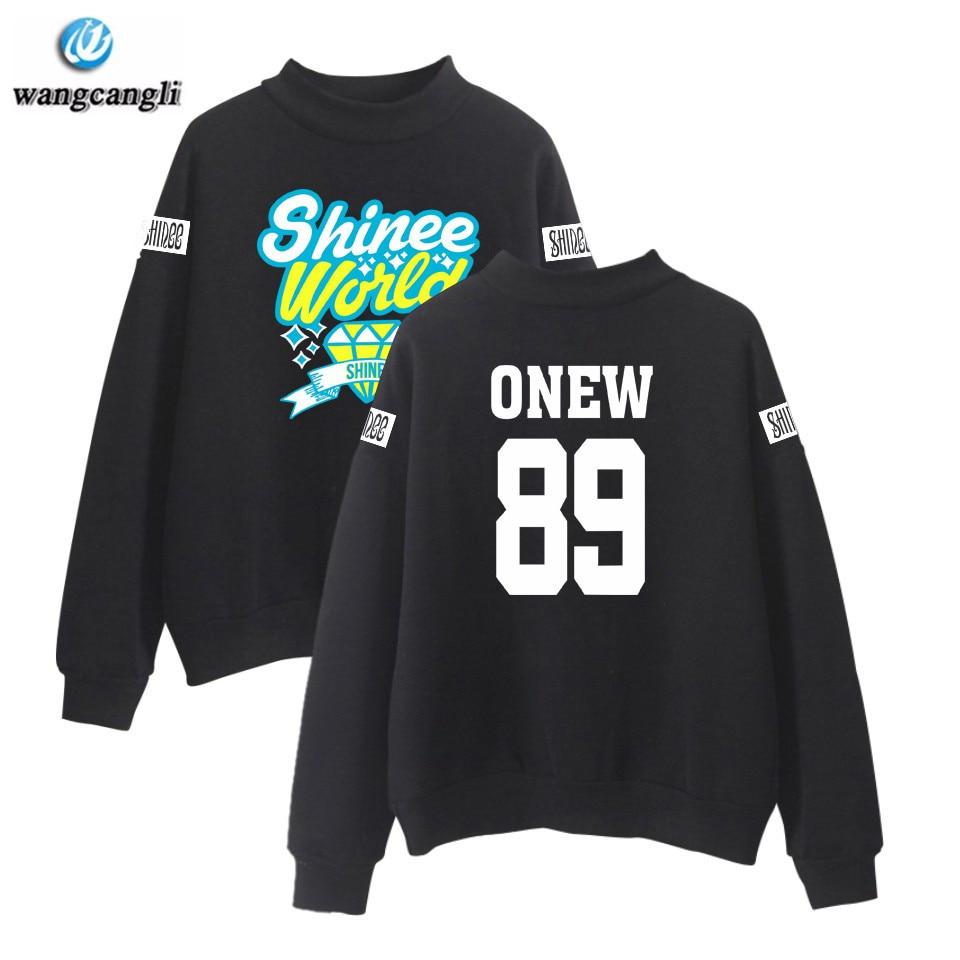 SHINee Jonghyun ONEW Kpop Turtleneck Hoodies Sweatshirt Women/Men Korean Style Fashion Hoodie Harajuku Tracksuit Plus Size 4XL