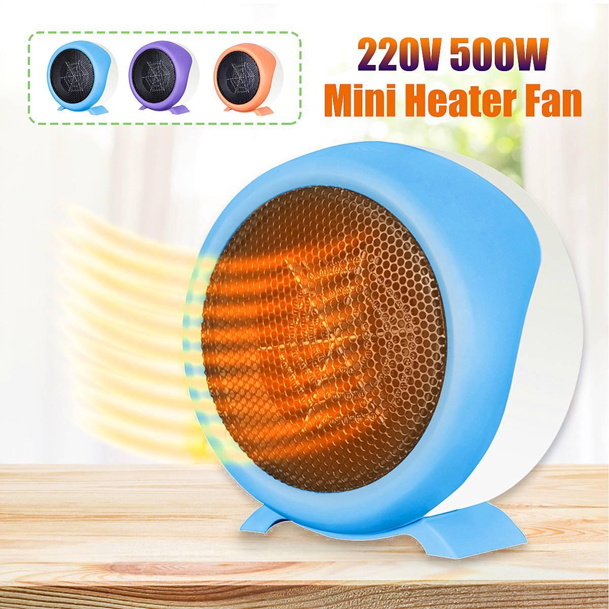 Mini ventilador eléctrico portátil del calentador de aire caliente soplador silencioso hogar Oficina invierno calentador 220V aire acondicionado máquina de calentamiento