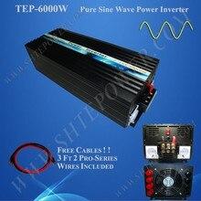 Onduleur ondulé solaire pur   6000W DC 12V 24v 48v à ca 200V 220v 230v 240v 120v 110v 100v