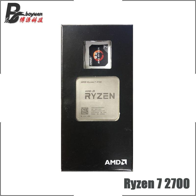 AMD Ryzen 7 2700 R7 2700 de 3,2 GHz de ocho núcleos Sinteen-Hilo de procesador de CPU L3 = 16M 65W YD2700BBM88AF hembra AM4 nuevo, pero sin ventilador