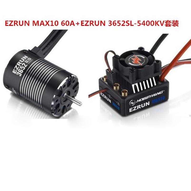 Hobbywing Combo EZRUN MAX10 60A sin escobillas ESC + 3652SL G2 3300KV impermeable sin escobillas de Motor + 3652SL G2 4000KV 5400KV Brushles