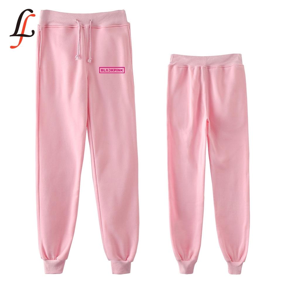 Blackpink harajuku nuevo Hip Kpop moda Casual Jogger pantalones nuevos Casual caliente moda Pantalones Slim Kpop hombres/mujeres Pantalones