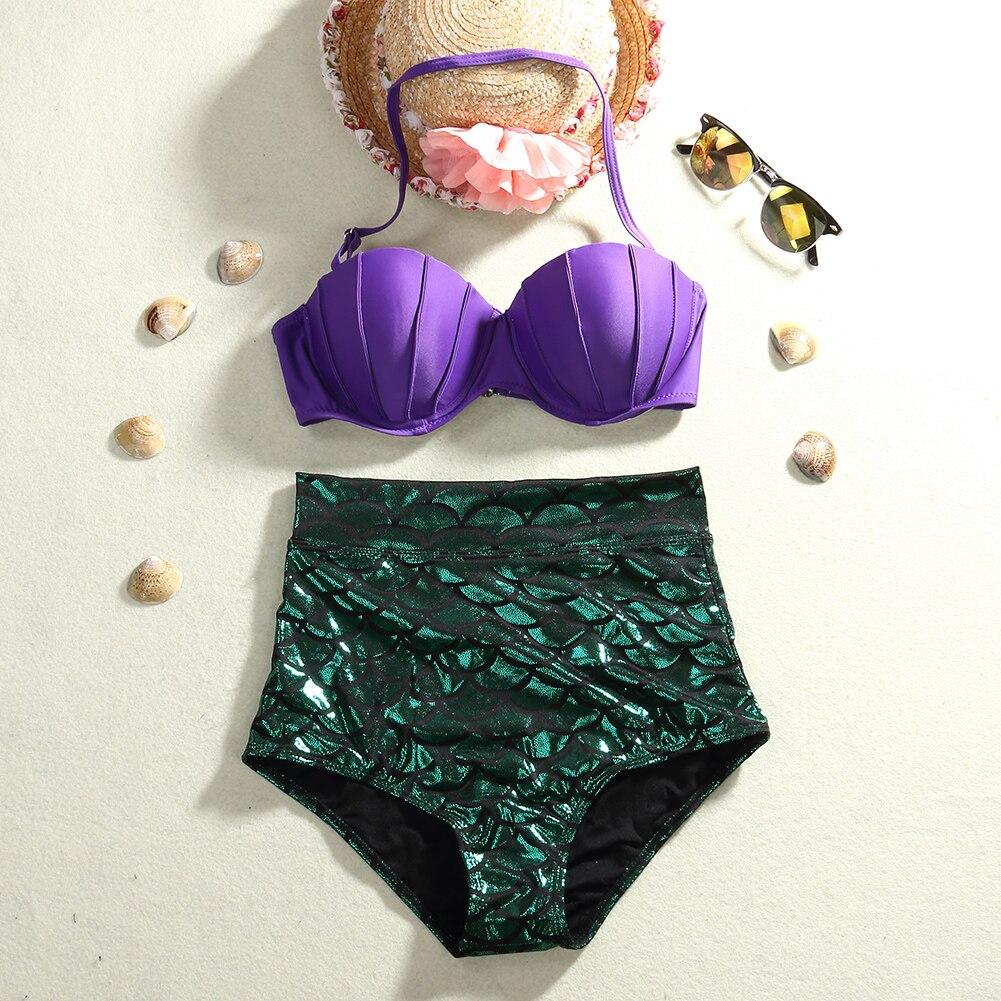2017 Sexy Women Mermaid Bandage Bikini Set Push-up Padded Swimwear Swimsuit Bathing Suit Women Bikinis