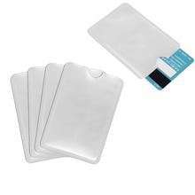 100 stks/partij RFID Afgeschermde Mouw Kaart Blokkeren 13.56 mhz IC Card Bescherming NFC Security Card Onbevoegde Scannen