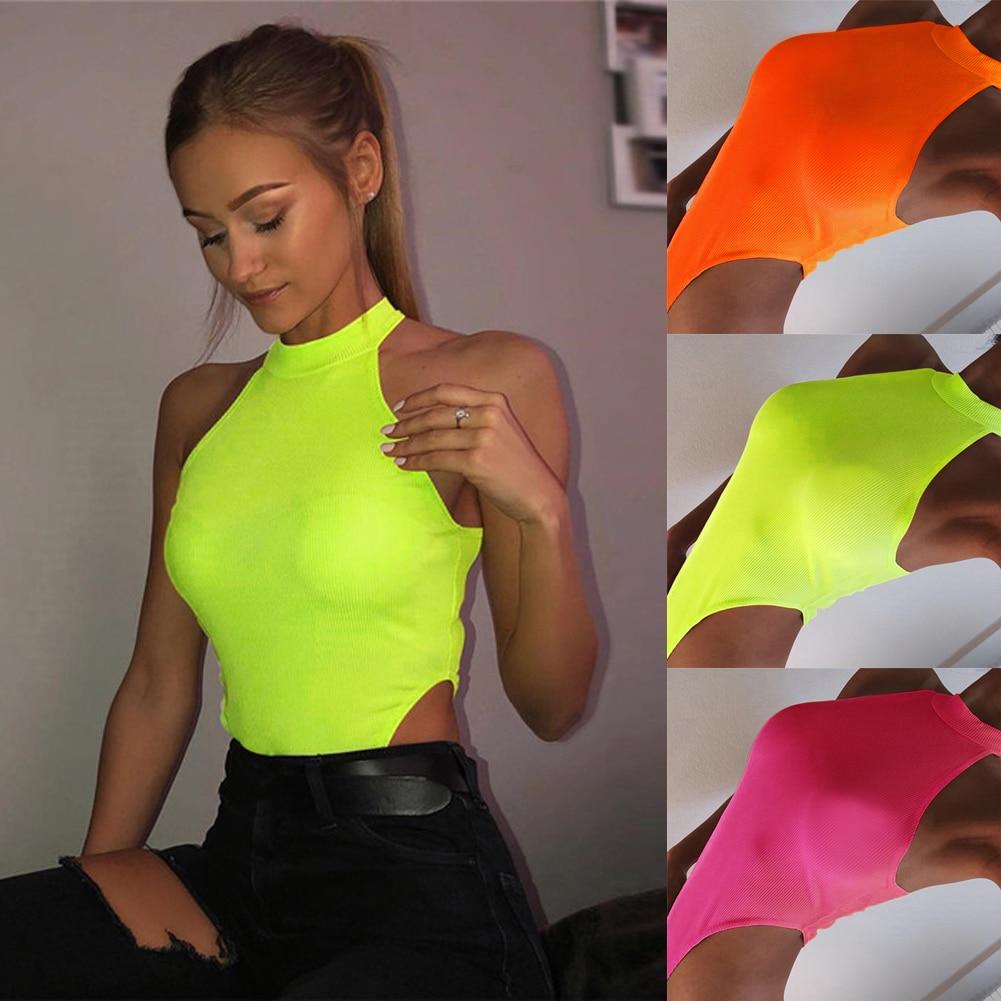 2020 Brand New Summer Ladies Women Sleeveless Sexy  Bodysuit Leotard Blouse  Tank Stretch Jumpsuit Slim Tops Party Night