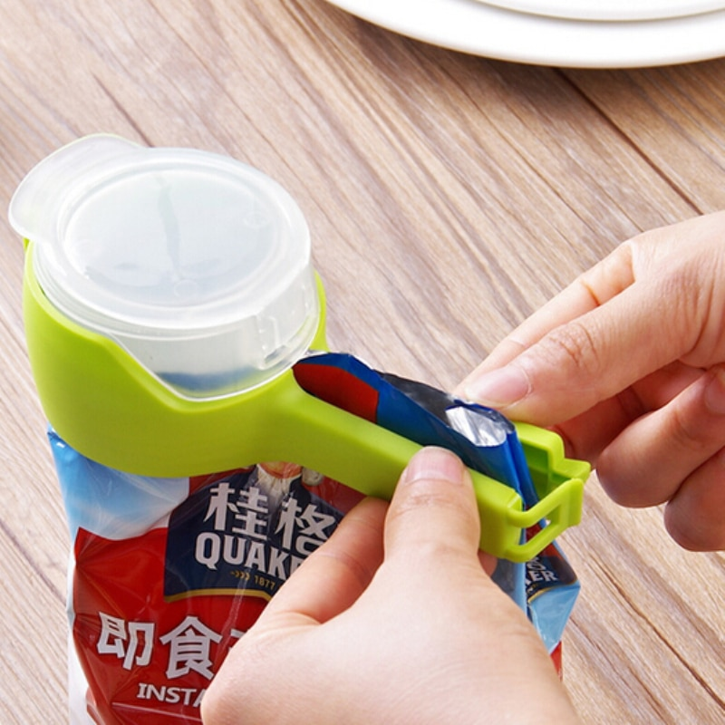 New Seal Pour Food Storage Bag Clip Snack Sealing Clip Keeping Fresh Sealer Clamp Plastic Helper Foo