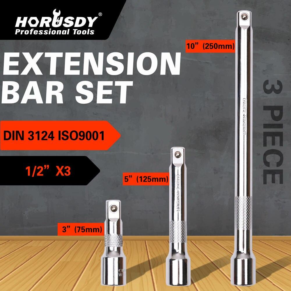 """HORUSDY, 3 uds., Set de barras extensoras de extensión largas de 1/2 """", 3"""" 5 """"10"""", llave de carraca, llave de mano, accesorios de herramientas"""