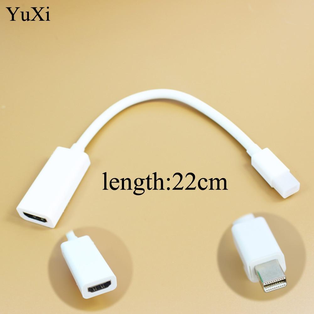 YuXi, nuevo puerto DisplayPort Thunderbolt Mini, DP macho a HDMI hembra, Adaptador convertidor de Cable para Apple Mac Macbook Pro Air