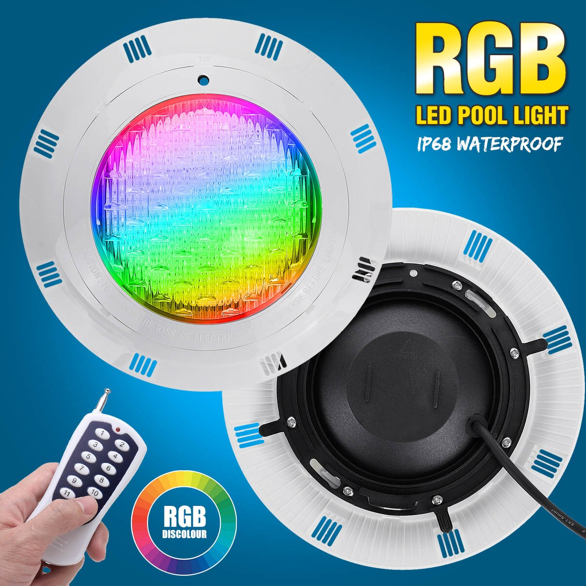45W RGB Led Swimming Pool Light 450LED IP68 Waterproof AC12V-24V Outdoor RGB UnderWater Light Pond Led Piscina Luz Spotlight