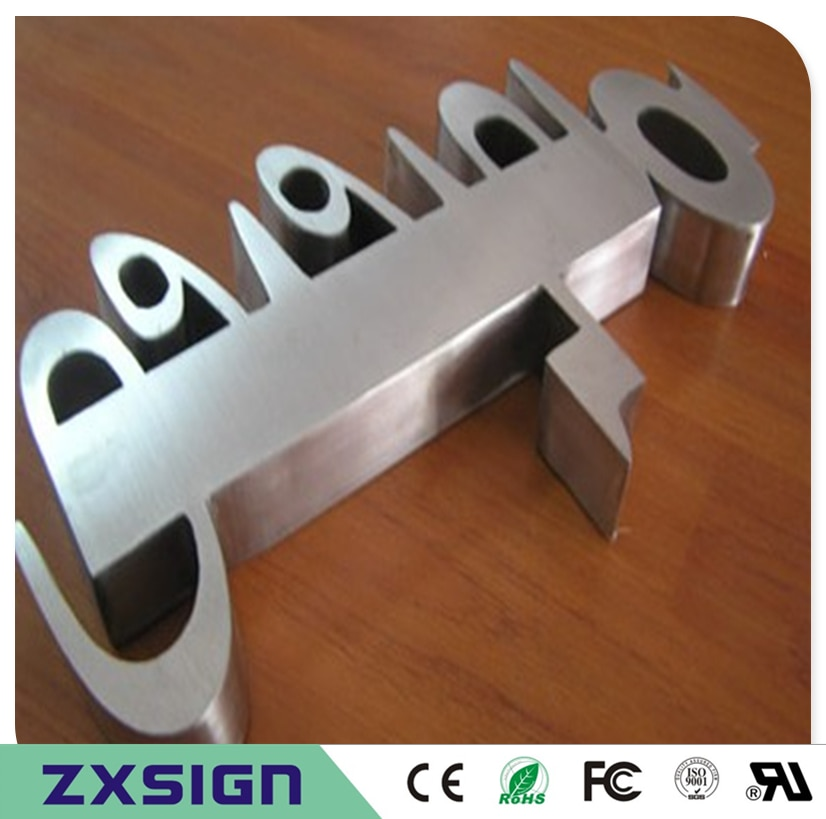 Factory Outlet Outdoor stainless steel signage business advertising store name sign letterings coffee shop metal channel letters