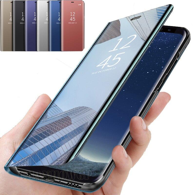 Spiegel Flip Fall Für Samsung Galaxy S10 S9 S8 S7 rand M10 M20 M30 A10 A20 A30 A50 A70 A6 a7 A8 A9 J2 J4 J6 Plus 2018 J3 J5 J7