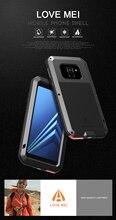Чехол для Samsung Galaxy A8 2018 LOVE MEI, ударопрочный водонепроницаемый металлический армированный чехол для телефона Galaxy A8 Plus 2018