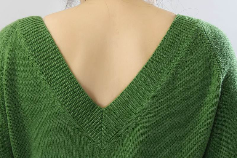 Pure Cashmere Sweater For Women Deep V-Neck Pullover Natural Fabric Extra Soft Warm High Quality Clearance Sale Free Shipping enlarge