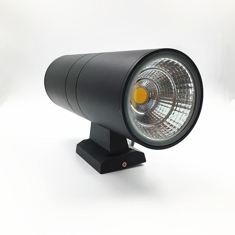 10pcs 6W 10W 14W 20W 2x3W 2x5W 2x7W 2x10W outside Double head wall lamp Building waterproof IP65 body Black or gray AC 110V-230V