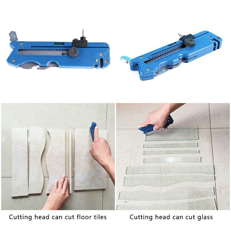 Нож для резки стекла с атомами углерода, креативный переносной многофункциональный нож для резки керамической плитки, пластика, простой ст...