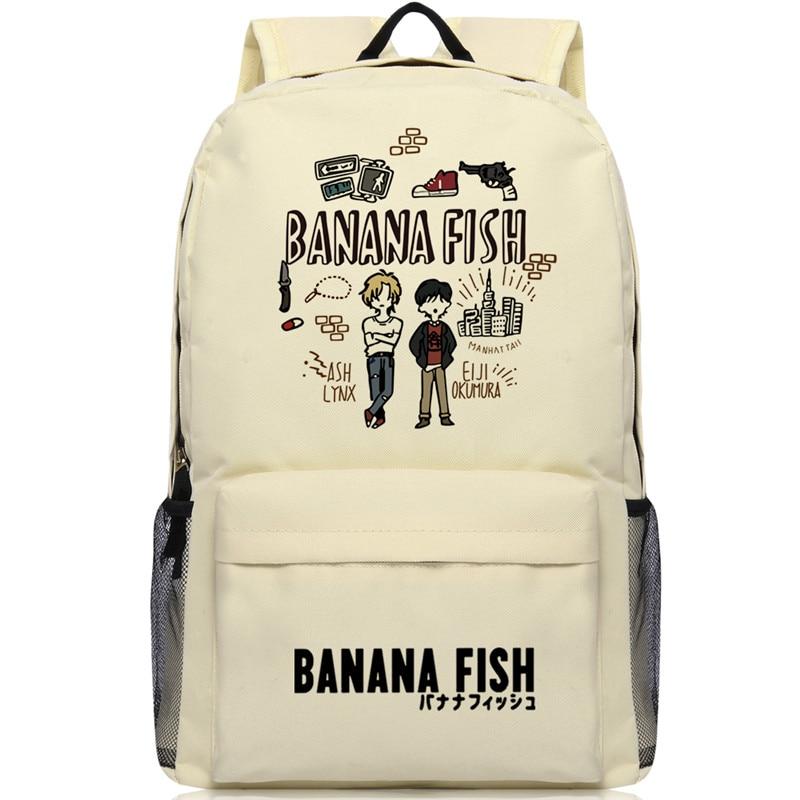 Рюкзак для ноутбука с рисунком Банановая рыба, для мужчин и женщин, школьная сумка-Оксфорд для косплея, большие рюкзаки для мальчиков-подростков, сумки для путешествий, Mochila Escolar