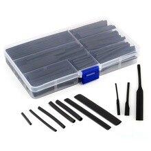 Mix Grootte 150 stks/doos 21 Polyolefine Krimpkous Tube Hoezen Draad Elektrische Isolatie Kabel Kit 2-13mm zwart Assortiment