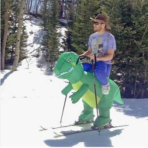 Purim Costumes Airblown Fan Operated T-Rex Inflatable Dinosaur Suit Outfit Costume for Kids and Adults Dino Rider