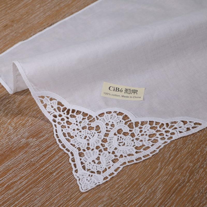 Женский кружевной носовой платок, белый Хлопковый носовой платок для свадебных церемоний, подарок на свадьбу