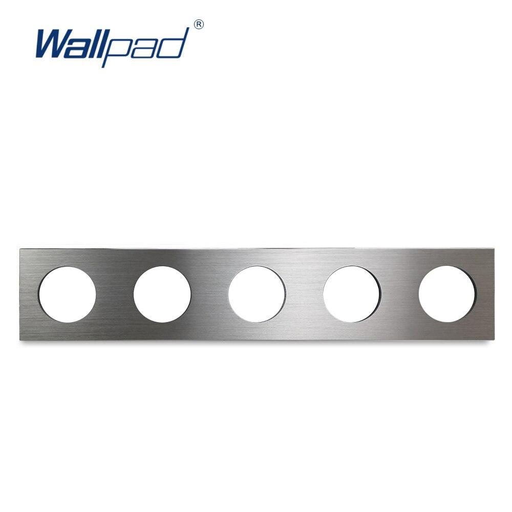 L6 сделай сам, 5 каркасов, серебристая панель, матовый алюминий, настенная розетка с выключателем металлическая накладка свободное сочетание...
