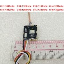 35 km çalışma 200 mw 1.2G kablosuz verici 1.3G gönderen kablosuz CCTV 1.3G iletim kalıp FPV gönderen drone verici FPV tx