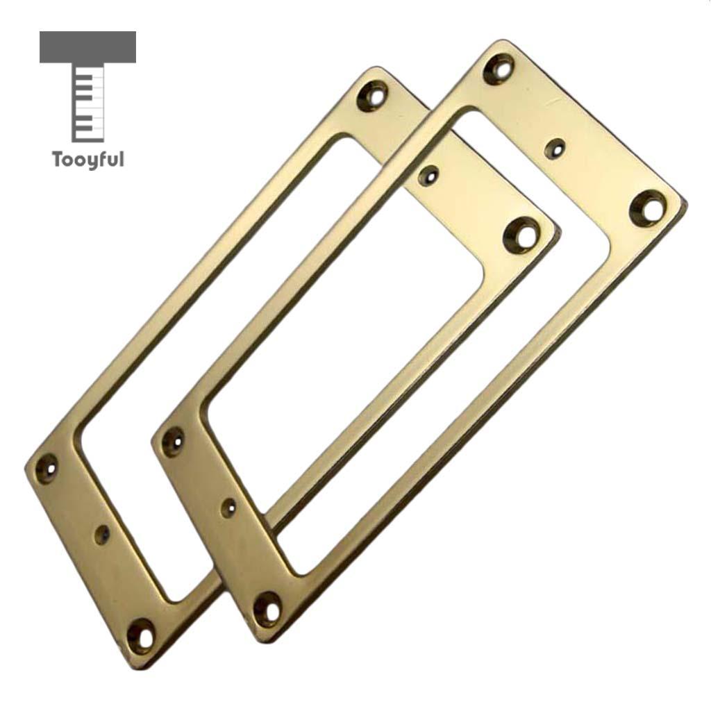 Metal Flat Humbucker Guitar Pickup Mounting Rings for Les Paul Electric Guitar Parts 2mm