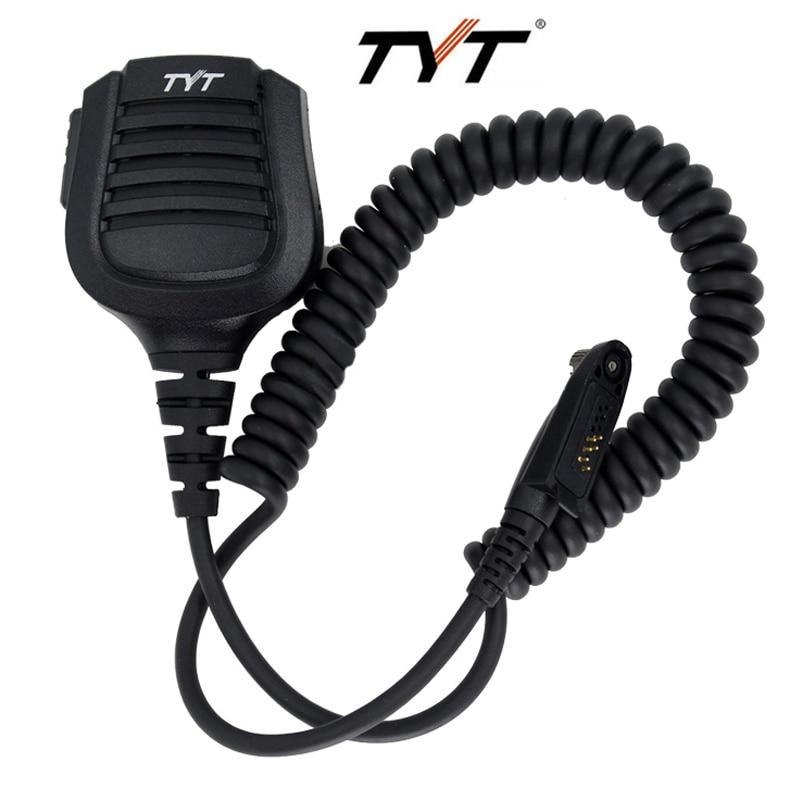 Novo ip67 à prova dip67 água handheld alto-falante mic para rádio walkie talkie tyt MD-2017 MD-398 rádio em dois sentidos md398 md2017