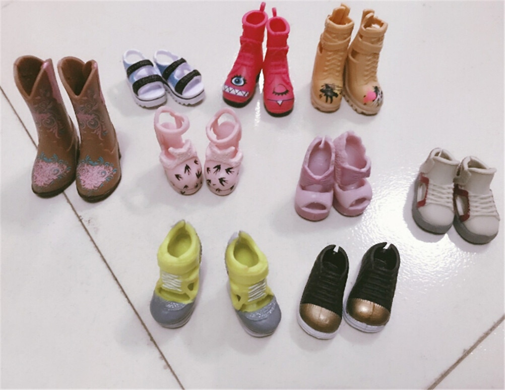 1Pair Fashion Boots Colorful High Heels Shoes Boots Cute DIY Clothes For Doll Accessories Gifts Rand