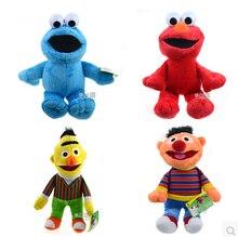 4pcs/lot Sesame Street Plush Toys Ernie Cookie Monster Elmo Bert, Plush Toy 20cm