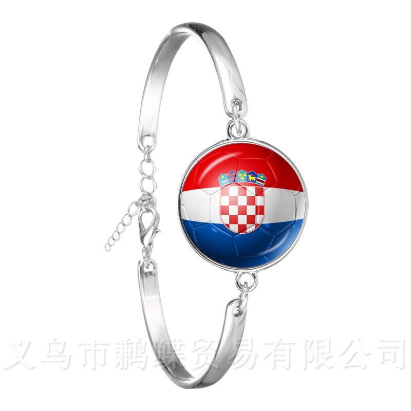 2018 nueva pulsera de fútbol Copa del Mundo Bandera Nacional Bélgica, Brasil, México, Marruecos, Perú, Croacia, Corea Souvenirs brazalete de fútbol