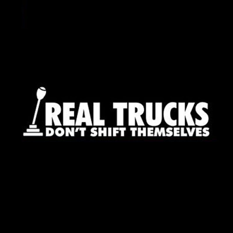 Виниловая наклейка, 20,32x5,7 см, настоящие грузовики, не смещают себя, дизельный грузовик турбо 4x4 #01478