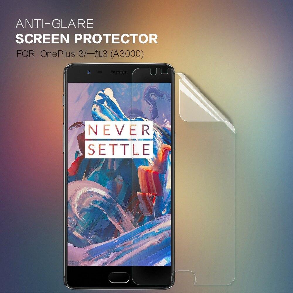 NILLKIN – protecteur d'écran pour Oneplus 3 3T A3000, 2 pièces/lot, Film de protection mat, résistant aux rayures, givré