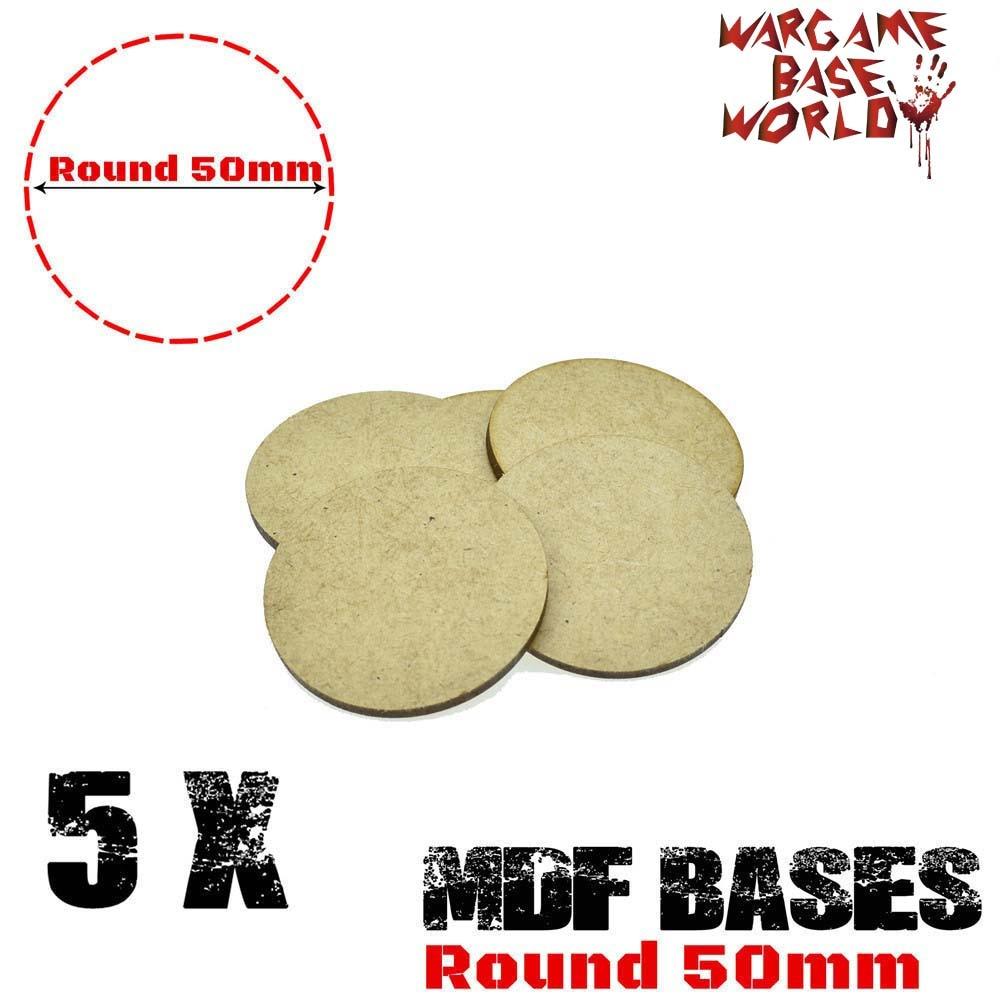 MDF Bases - 50mm Round bases- Basing Laser Cut Wargames wood