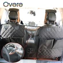 Overe Car Seat Back Protector Cover Dog Cat Anti Kick Mat Storage Bag for Mercedes W205 W203 Volvo XC90 S60 XC60 V40 Alfa Romeo