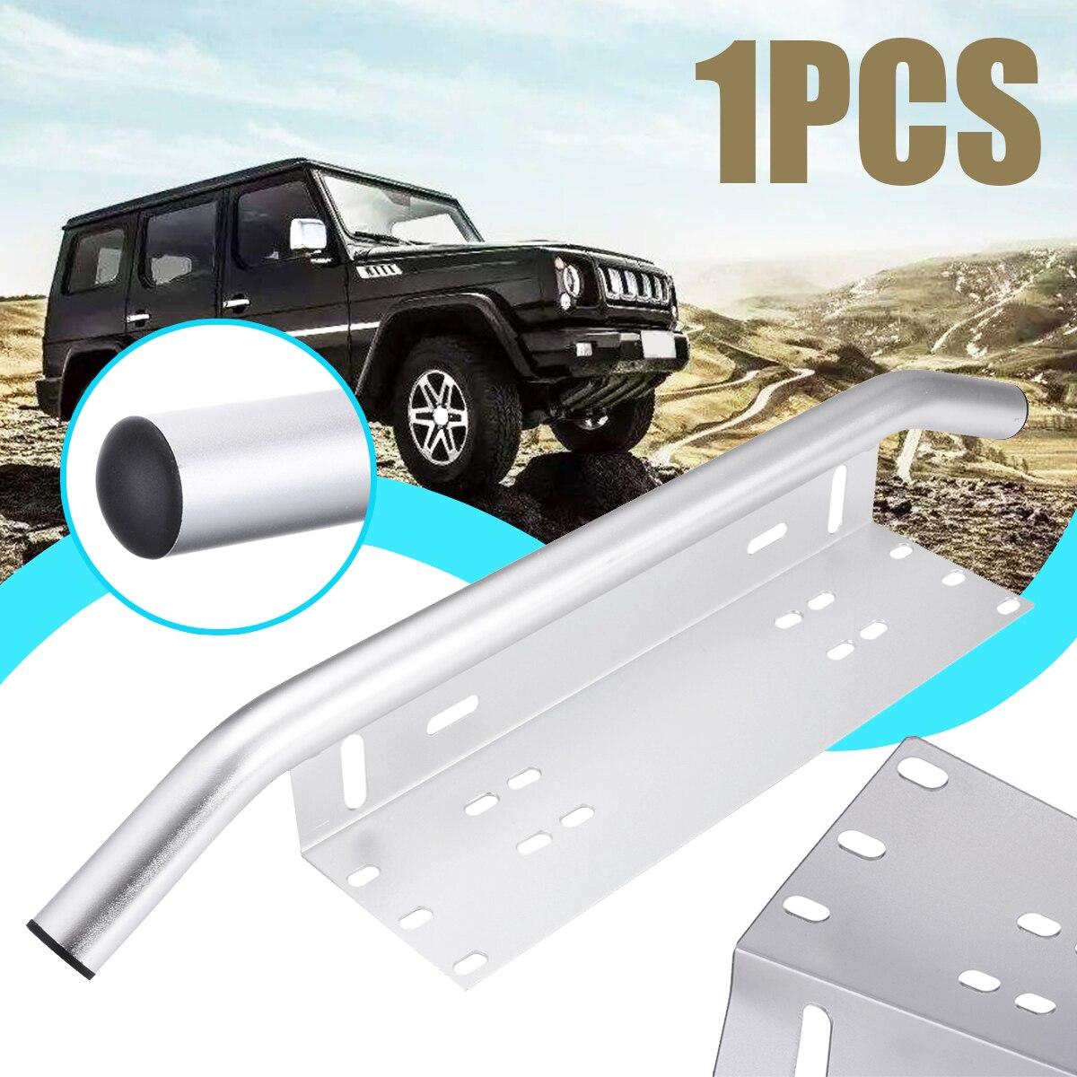 Mayitr, 1 unidad, barra parachoques para coche, soporte de montura de placa de matrícula, soporte de luz cromado, Compatible con faros antiniebla, lámpara LED de trabajo