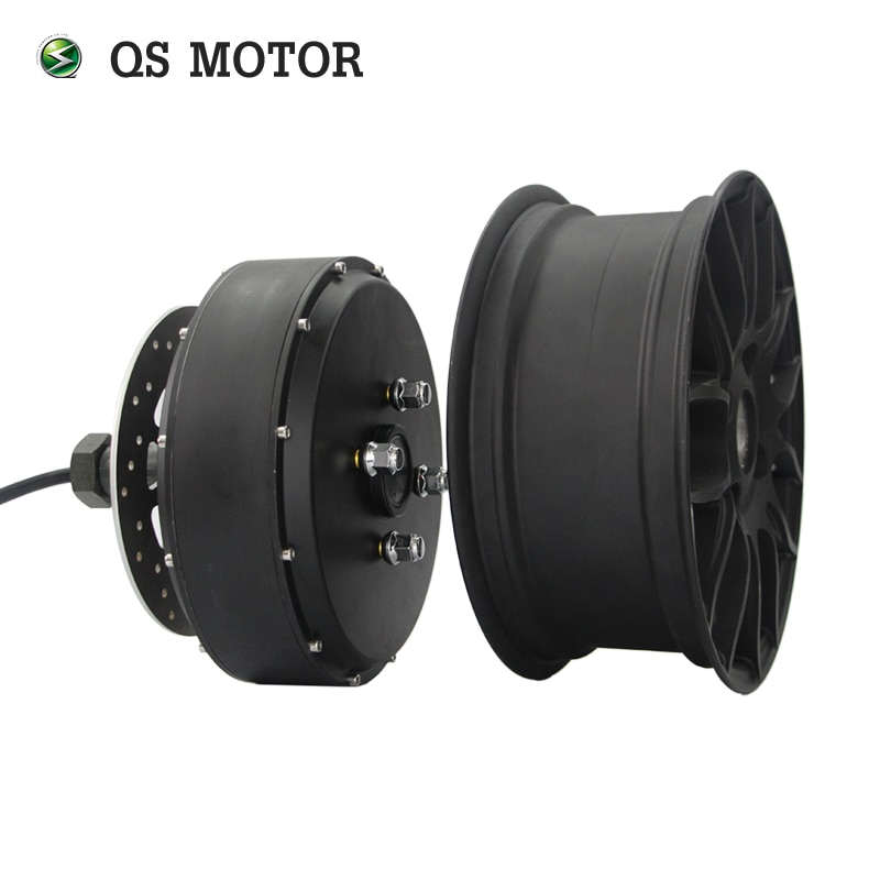 QSMOTOR moteur sans balais 12*5.0 pouces   Moteur 2000W 260 35H V3, moyeu électrique à arbre unique détachable pour scooter