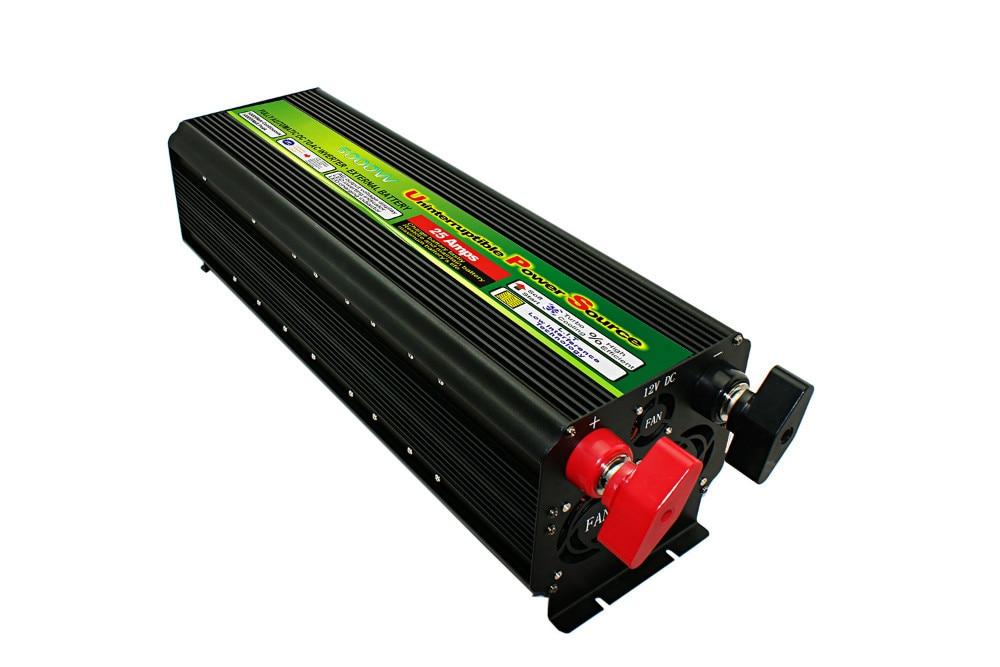 Envío Gratis inversor 24V 220V 5000W de potencia completa modifiled inversor de onda sinusoidal 50HZ con cargador para uso en el hogar