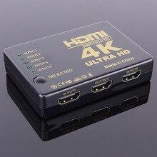 5-en-1-out HDMI commutateur 4 K * 2 K 5 Port HD vidéo 1 diviseur de jardin HDMI switcher télécommande infrare pour HDTV Xbox PS