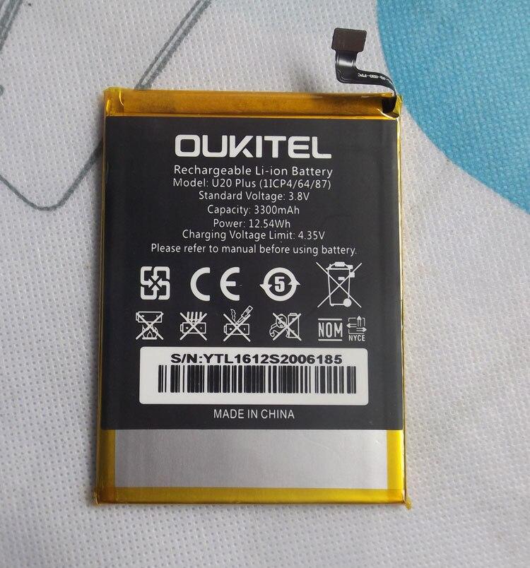 Oukitel U20 Plus аккумулятор 3300 мАч Новый Сменный аксессуар Аккумуляторы для сотового телефона Oukitel U20 Plus